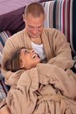 卧室夫妇修饰 免版税图库摄影