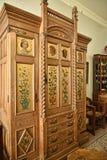 卧室家具在不是全国信任财产的利兹西约克郡附近的一栋美丽的乡间别墅里 库存照片