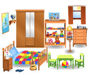 卧室家具 库存例证