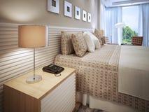 卧室当代设计 库存图片