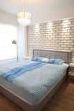 卧室明亮的豪华 库存照片