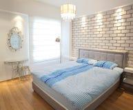 卧室明亮的豪华 库存图片
