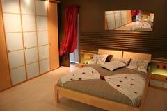 卧室木头 库存照片