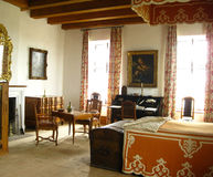 卧室法语葡萄酒 库存照片