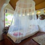 卧室热带亚洲样式 库存图片