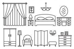 卧室现代家具 库存图片