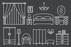 卧室现代家具 图库摄影