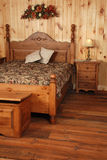 卧室老杉木集合木头 免版税库存照片