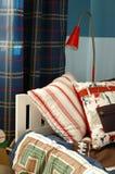 卧室蓝色孩子 免版税库存照片