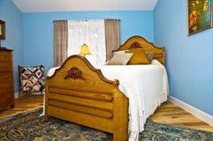 卧室蓝色 库存图片