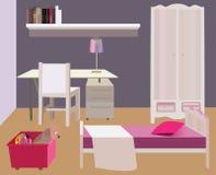 卧室装置,传染媒介 免版税库存图片