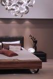 卧室设计内部现代 免版税库存照片