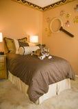 卧室设计女孩 图库摄影