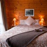卧室详细资料内部小屋 免版税图库摄影