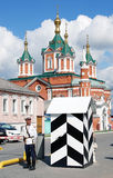 卫兵在克里姆林宫在Kolomna,俄罗斯 库存图片