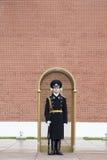 卫兵在莫斯科克里姆林宫 库存图片