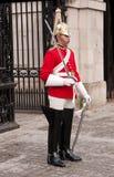 卫兵守卫马伦敦游行女王/王后s英国 免版税图库摄影