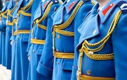 卫兵的制服 免版税库存照片