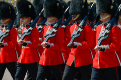 卫兵的变动,伦敦 免版税库存图片