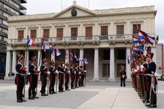 卫兵荣誉称号蒙得维的亚 免版税库存图片