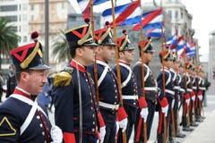 卫兵荣誉称号蒙得维的亚 库存照片