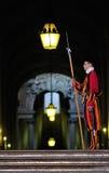 卫兵走廊瑞士梵蒂冈 免版税图库摄影