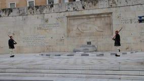 卫兵,希腊议会的变动 股票视频