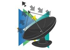 卫星天线象 图库摄影