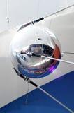 卫星模型在天文馆的在雅罗斯拉夫尔市 免版税库存照片