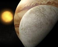 卫星欧罗巴,木星的月亮 库存图片