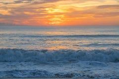 从卫星海滩,佛罗里达的日出 库存照片