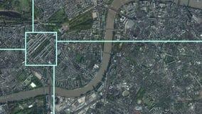 卫星监视徒升作用到伦敦,英国里 皇族释放例证