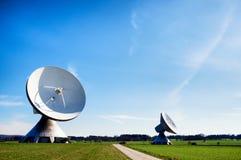 卫星盘-无线电望远镜 库存图片