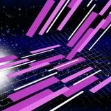 卫星空间背景意味循轨道运行和收集 向量例证
