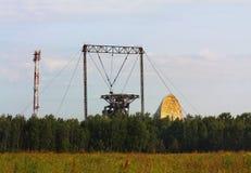 卫星通讯设备 免版税库存图片