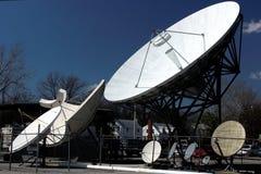 卫星5个的盘 免版税库存照片