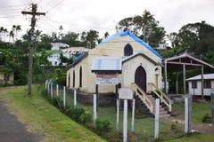 卫理公会Navoka卫斯理教堂在Levuka, Ovalau海岛,斐济 库存图片