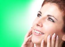 卫生学和健康皮肤面孔。 库存照片