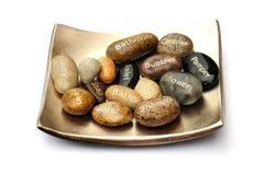 卫生间小卵石符号 库存图片