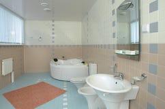 卫生间极可意浴缸 库存图片