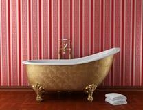 卫生间浴缸经典老 免版税库存照片
