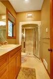 卫生间绿色阵雨墙壁 库存照片