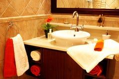 卫生间美丽的水槽 免版税库存照片