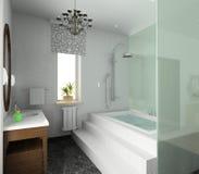 卫生间设计内部现代 免版税库存图片