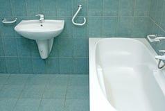 卫生间详细资料绿色 库存图片