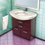 卫生间镜箱 库存照片
