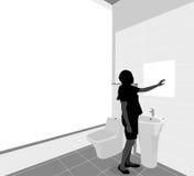 卫生间场面 免版税库存照片