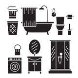 卫生间现代家具 库存照片