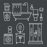 卫生间现代家具 库存图片