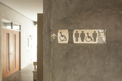 卫生间的标志 库存照片